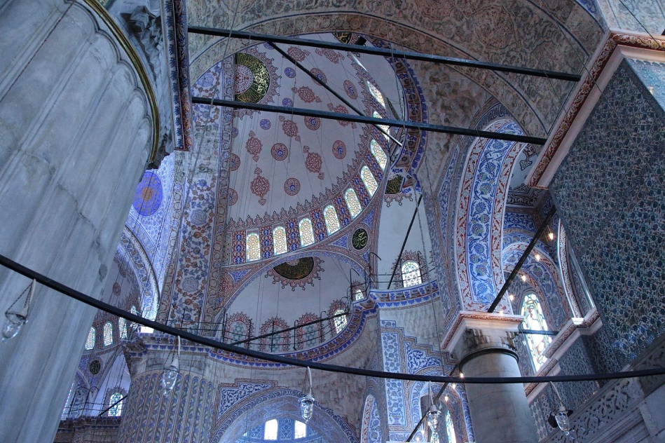 Interior of the Blue Mosquee Istanbul