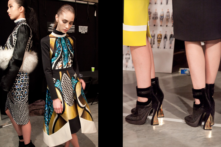 Peter Pilotto dress and shoes