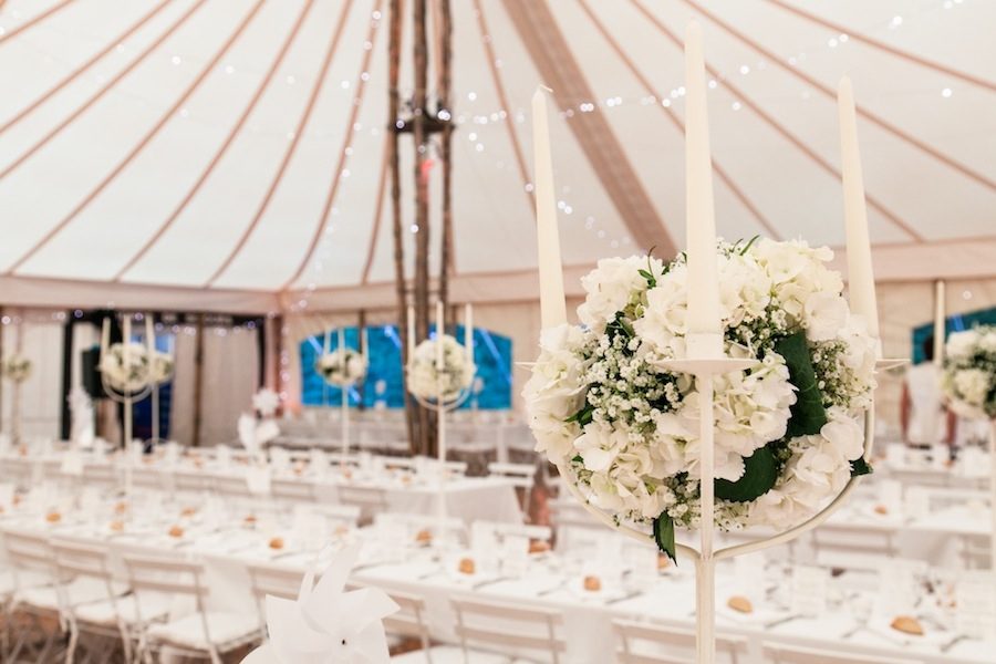 The wedding tent