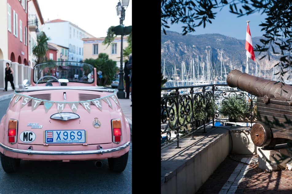 Wedding pink car - St Jean Cap Ferrat