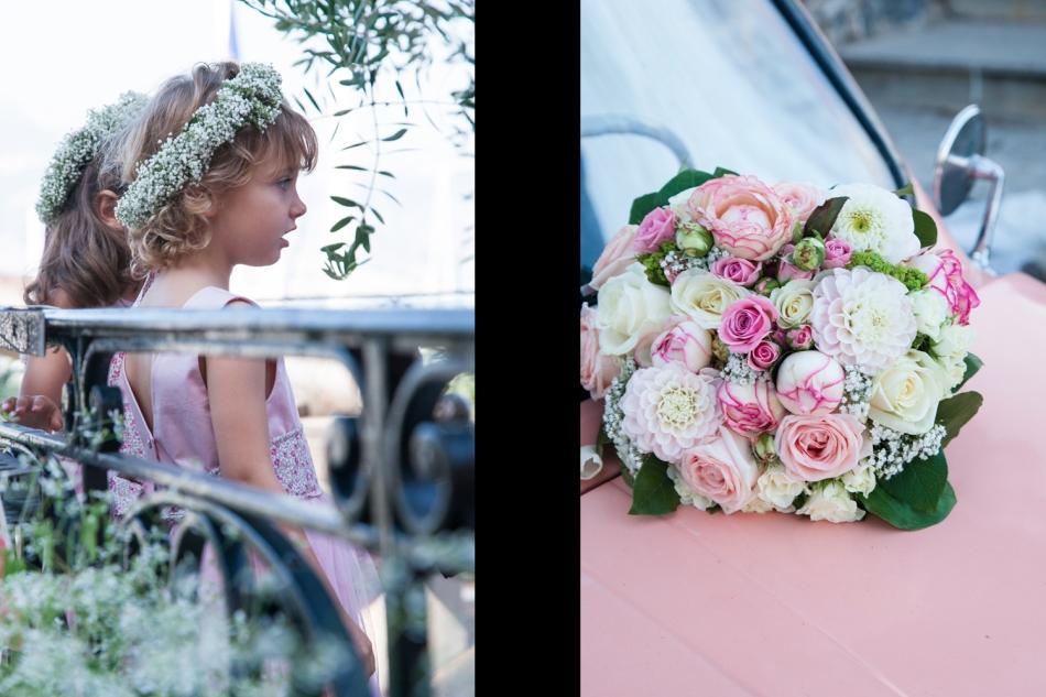 Cortege girls and bouquet