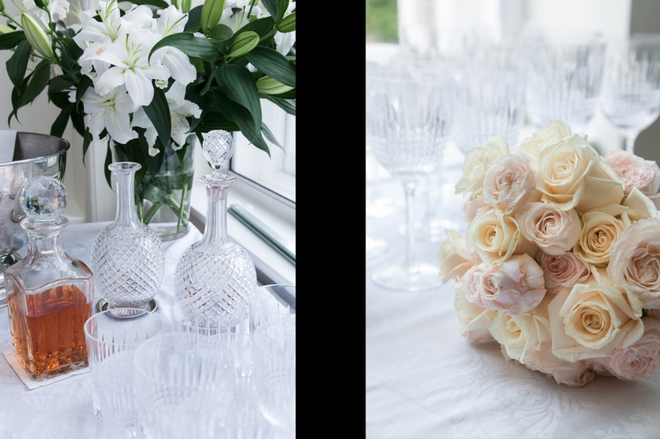 Cristal glasses and decanters - bouquet