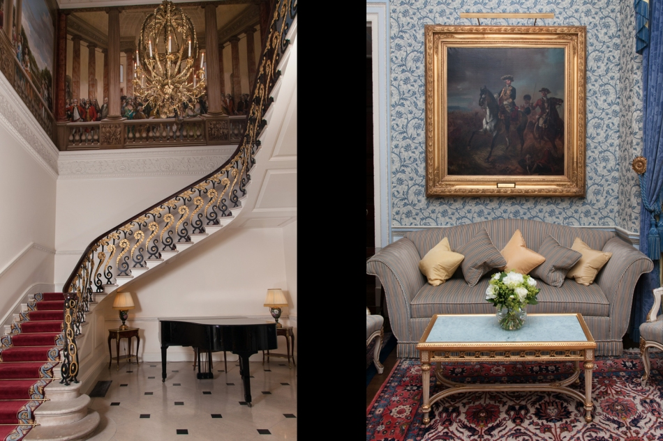 The Ritz - staircase and Kensington salon