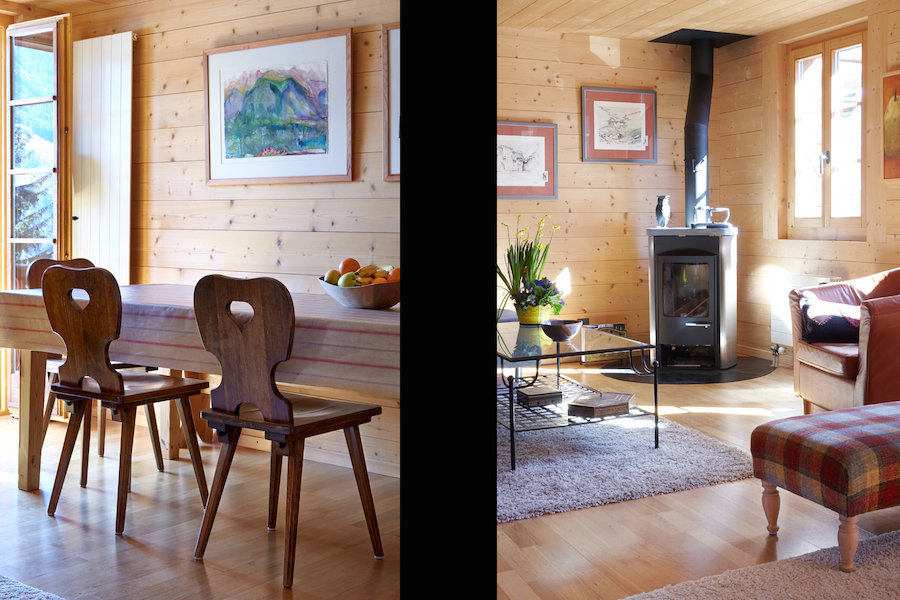 2 Dining Table with open window - Wood Burner